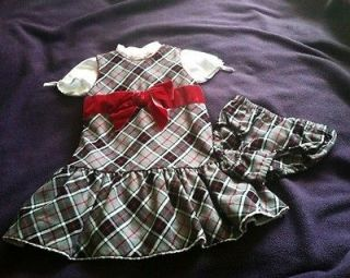 The Childrens Place Size 3T Grey, Black & Red Plaid Dress Set   EUC