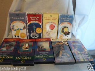 Lot of 9 Childrens VHS Tapes PBS for Kids, Video Library & Family
