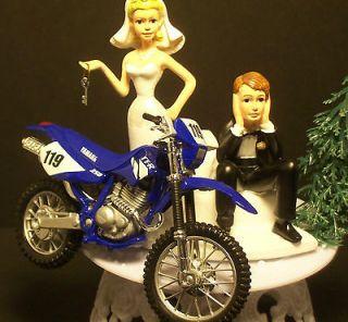 MOTORCYCLE Yamaha 250 TT R Dirt Bike WEDDING CAKE TOPPER Funny