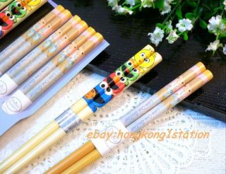 Licensed Elmo / Precious Moments Japanese Chinese Chopsticks Set 9