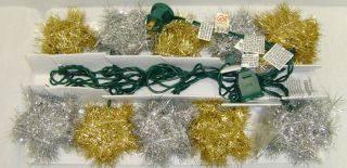 CLEAR STAR LIGHT SET Holiday Christmas Yard Lawn Outdoor Display Decor