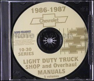 Chevy Truck CD Shop Manual and Wiring Diagrams Pickup Blazer Suburban