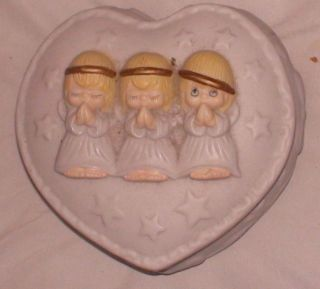 Praying Angels Trinket Box HMK Houston Harvest Raised Design
