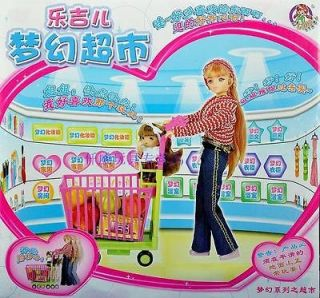 supermarket girl doll play house toys birthday gifts children fun