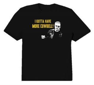 More Cowbell Blue Oyster Cult SNL Funny T Shirt Black