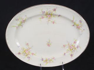 Crooksville China Spring Blossom   13 Oval Serving Platter (No