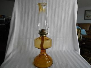 Gone With The Wind Amber Satin Glass Ball Oil Lamp Shade Globe