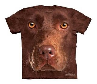 THE MOUNTAIN CHOCOLATE LAB FACE INTELLIGENT HAPPY PUPPY DOG PET SHIRT