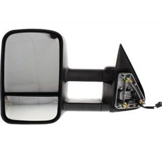 New Towing Mirror Driver Left Side Heated Power Primered Full Size