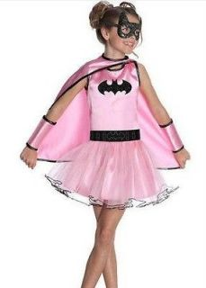 NIP Girls PINK BATGIRL costume dress up Size Sm 4/6 Med 8/10 Mask TUTU