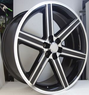 24 IROC BLACK MACHINED 6 Lug Wheel SET 24X10 IROCS 6X139.7 Classic