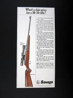 Savage Model 340 V 30 30 Rifle 1966 print Ad advertisement