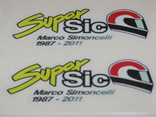 Marco Simoncelli 58 ciao marco stickers small 9cm x 3.5cm x 2
