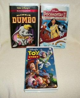 DISNEY   DUMBO, TOY STORY & POCAHONTAS II   CHILDRENS VHS VIDEOS