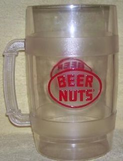Newly listed Large Clear Plastic Advertising Mug BEER NUTS