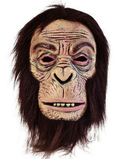 Face Foam Chimp Mask Wig Monkey Gorilla Planet Of The Apes Halloween