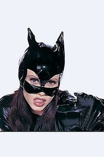 N06 SEXY PVC COSTUME MASK   AVENGERS BLACK WIDOW HEROINE CATWOMAN