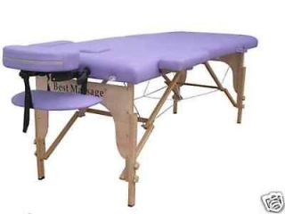 New Purple PU Portable Massage Table w/Free Carry Case U1 Facial Bed