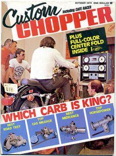 Custom Chopper Magazine, October 1974 (Harley/Chopper/Bobber/Long