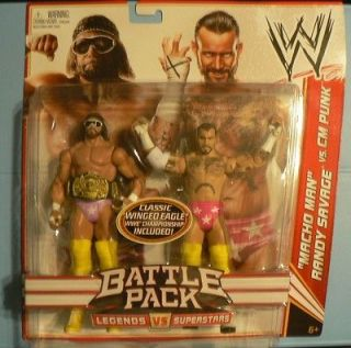 Wwe Action Figure Battle Pack Cm Punk & Macho Man Randy Savage LOOK