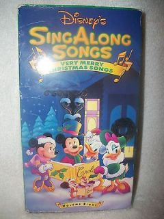 Disneys Sing Along Songs   Very Merry Christmas Songs (VHS, 1997)