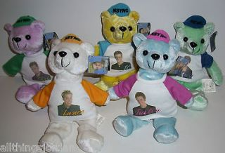 Beanie Baby Ty Plush Doll set JC, Lance, Chris, Joey, J Timberlake