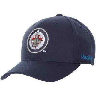 Winnipeg Jets Basic Logo Wool Blend Adjustable Hat   Polar Night Blue