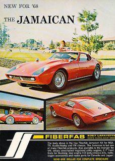 1968 Fiberfab Jamaican Kit Car Classic Advertisement Ad