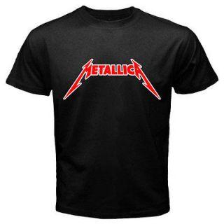 METALLICA Cliff Metal Logo Heavy Metal Rock Band Mens Black T Shirt