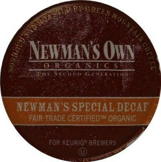 Green Mountain Coffee Newmans Special Decaf, K Cup Portion Pack for