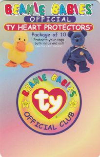 Ty Beanie Babies Official TY Heart Tag Protectors Pack of 10