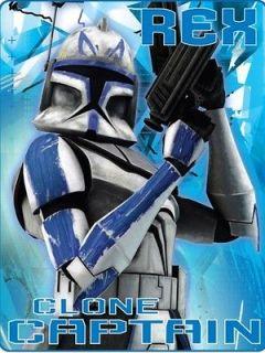 Star Clone Wars Trooper Jedi Fleece Blanket Throw Cover