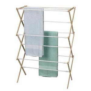 Wood Clothes Dryer Sweater Drying Rack w/ White Dowels