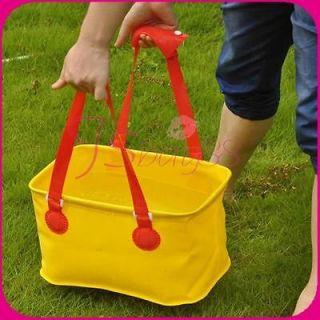 Portable Outdoor Camping Foldable Folding Storage Bag Wash Basin