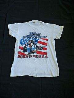 VINTAGE BRUCE SPRINGSTEEN & THE STREET BAND WORLD TOUR 84 85 T SHIRT