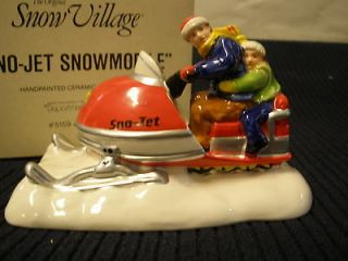 Sno Jet Snowmobile Red Original Snow Village Accessory Department Dept