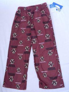 Boston College Eagles Logo Pajama Pants Kids Size Medium Sleep Lounge
