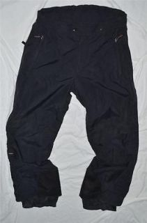 SKIWEAR LARGE BLACK SNOWBOARDING SKIING WINTER SNOW PANTS TROUSERS