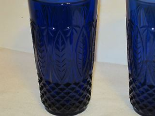 Avon Royal Sapphire Blue Tumblers Glasses 14 Ounce France Estate