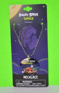 BIRDS SPACE DOG TAG NECKLACE CHAIN PARTY FAVOR RED BIRD ROVIO NIP