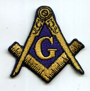 Masonic Square & compasses Iron Embroidered Patch