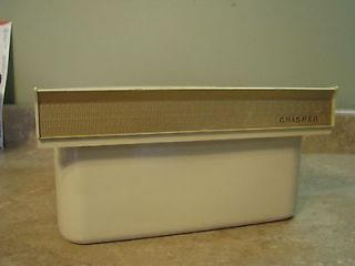 Porcelain Over Metal VTG REFRIGERATOR CRISPER DRAWER Bin IVORY Retro