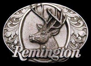 UNUSED VINTAGE 1994 ***REMINGTON FIREARMS*** BIG BUCK DEER GUN BUCKLE