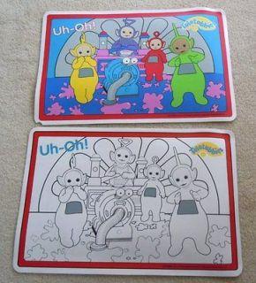 TELETUBBIES Vinyl Placemats Place mats Colorful and color on la la