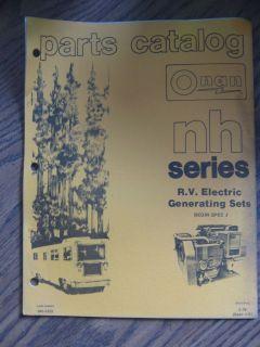 onan parts manual in Air Compressors & Generators
