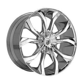 Lexani Lust chrome wheel rim 6x5.5 6x139.7 Escalade Avalanche Colorado