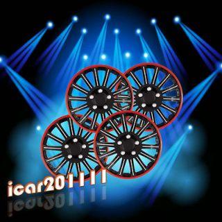 Set of 4 Universal 16 Cobra Chrome Black Wheel Covers Hubcaps Center