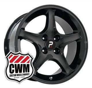 17x9 1995 Cobra R Black Wheels Rims 4 lug +18 mm offset for Ford