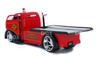 1947 Ford COE County Fire n Rescue Service Truck 1:24 Scale (Red)