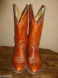 ANDERSON BEAN AB GENUINE LEATHER WESTERN COWBOY BOOTS MENS SIZE 8.5 D